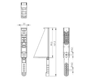 hliníkové plotové výplně - středová podpěra