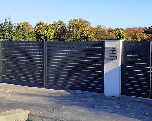 Hliníkový plot 06